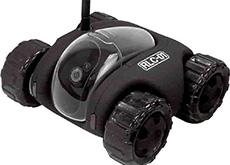 スマホで操作できるラジコンカー型のライブカメラ「ランニングライブカメラ RLC-01-BK」