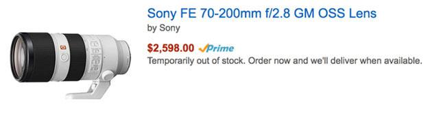 ソニーのAマウントの新レンズ24-105mm F4は、FE 70-200mm F2.8 GM OSSと同じ理由で遅れている!?