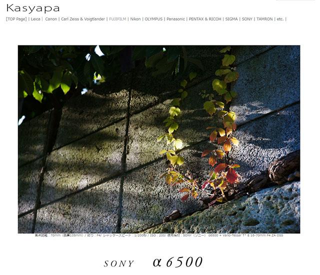 ソニーα6500レビュー