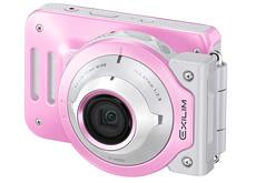 2,000台の限定。ピンクな女子向け分離・合体フリースタイルデジカメ「EIXLIM EX-FR100L」