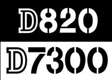 D820 D7300