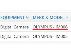 海外認証機関にオリンパスの未発表機種が新たに追加された模様。