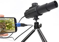 AndroidとPCに接続して使えるサンコーの70倍超望遠カメラ。