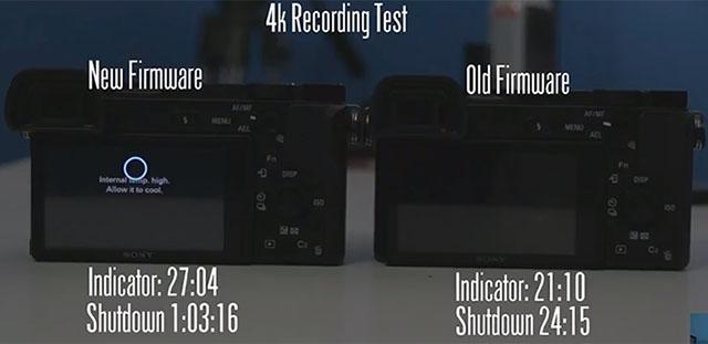 ソニーα6300のオーバーヒート時間がファームウェアアップデートで2倍以上に伸びた模様。