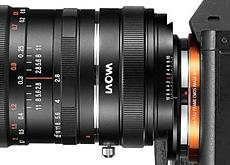 「LAOWA 12mm f/2.8 ZERO-D」を、Eマウント用17mm f/4のシフトレンズとして使用可能にする「マジックシフトコンバータ」