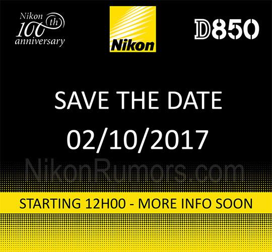 ニコンが10月2日にベルギーで行うイベントの招待メールにD850のロゴが掲載されていた模様。