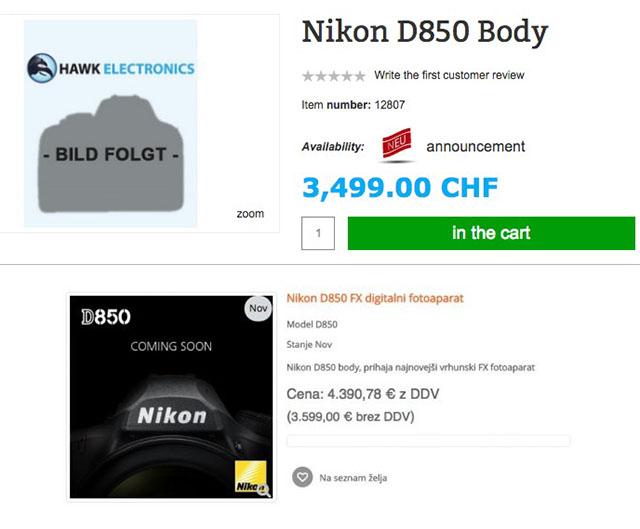 ニコンD850価格