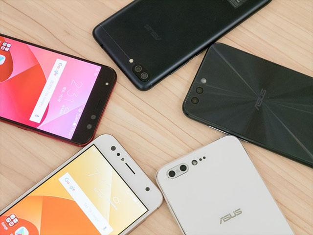 ASUSの新型スマホ「ZenFone 4」シリーズ。ディスプレイ側にデュアルカメラ搭載した自撮り特化モデルも。