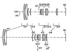 コニカのマイクロフォーサーズレンズ特許「50-250mm F4.5-5.8」