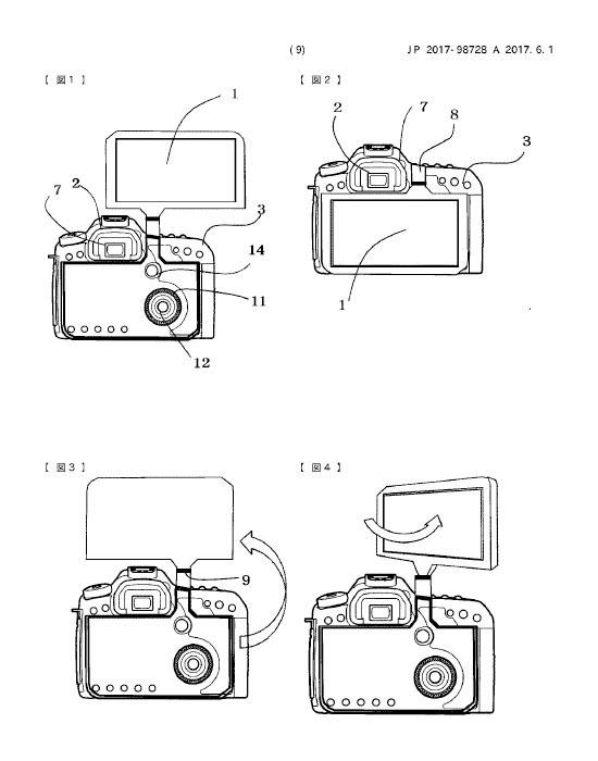 キヤノンの外部モニタのように使える背面液晶の特許