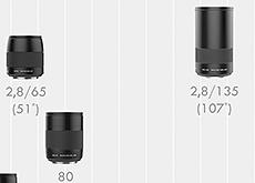 ハッセルブラッドがX1D用レンズ、XCD 135mm f/2.8と大口径80mmを発表。