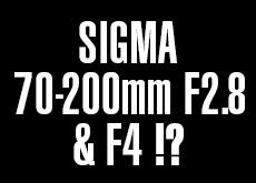 シグマの70-200mm F2.8 DG OS HSM | Sportsと70-200mm F4 DG OS HSM | Contemporary