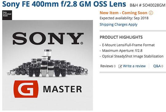 Sony-FE-400mm-f2.8-GM-OSS