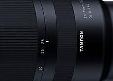 タムロン初のフルサイズEマウント用FEレンズ「28-75mm F/2.8 Di III RXD (Model A036)」開発発表