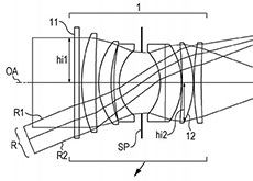 キヤノンのアポダイゼーションフィルター搭載した単焦点レンズの特許