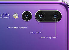 4000万画素でISO102400なトリプルカメラスマホ「HUAWEI P20 Pro」