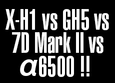 X-H1 vs 7D Mark II vs GH5 vs α6500!ISO6400高感度画質対決。