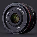 サムヤンのソニーEマウント用オートフォーカス広角レンズ「AF 24mm F2.8 FE」が正式発表。