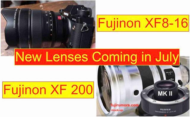 富士フイルム「XF8-16mmF2.8 R LM WR」と「XF200mmF2 R LM OIS WR」は7月に正式発表される!?