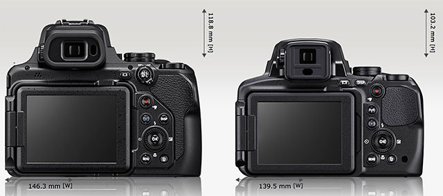 ニコンCOOLPIX P1000 vs COOLPIX P900 比較