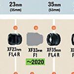富士フイルムが「XF33mmF1 R WR」「XF16mmF2.8 R WR」「XF16-80mmF4 R OIS WR」を開発発表。