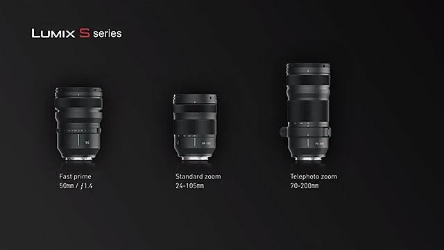 パナソニック Lマウントレンズ 50mm f1.4、24-105mm、70-200mm