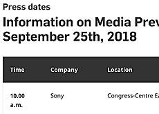 ソニーが9月18日にEマウントレンズを発表する確認が取れた模様。