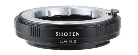 SHOTENマウントアダプター「LM-NZ」。ライカMマウントレンズをニコンZマウントに取り付け可能。