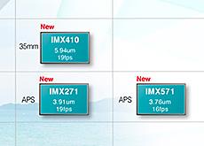 ソニーがイメージセンサーラインナップに、新しい中判、フルサイズ、APS-C、マイクロフォーサーズセンサーを追加した模様。