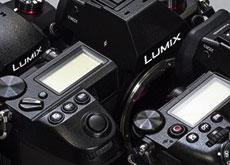 パナソニックのLUMIX S1RとG9、GH5sとのボディ比較画像。