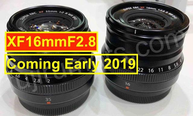 富士フイルムのXF16mmF2.8 R WRは2019年初頭に発売される。X-T30も!?