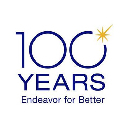 オリンパスが創立100周年ロゴ