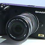 シャープの8Kカメラは夏の商品化を目指し、価格は30~40万円になる模様。