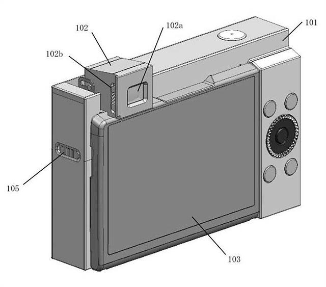 キヤノンのポップアップ式EVFの特許。
