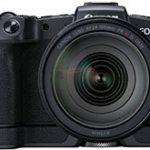キヤノン「EOS RP」の後付けグリップ「EG-E1」を装着したリーク画像。また、キットレンズは「RF35mm F1.8 MACRO IS STM」になる模様。