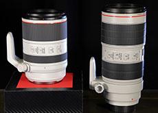 キヤノン「RF70-200mm F2.8 L IS USM」と「EF70-200mm F2.8L IS II USM」の大きさ比較。かなりコンパクトな模様
