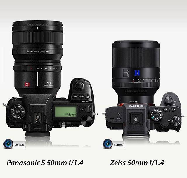 ソニーとパナソニックのフルサイズミラーレス用レンズ「24-105mm F4」と「50mm F1.4」の比較。