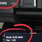 ボディにα6300と刻印されたソニーα6400が存在する模様。