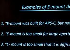 ソニーが、Eマウントはフルサイズ用F0.63レンズが理論的には可能とコメント。