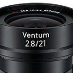 ツァイスが新レンズ「Ventum Distagon T* 2.8/21」はEマウントのドローン向けのレンズの模様。