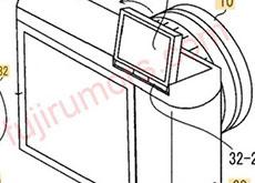 富士フイルムのチルト式の上面液晶画面の特許