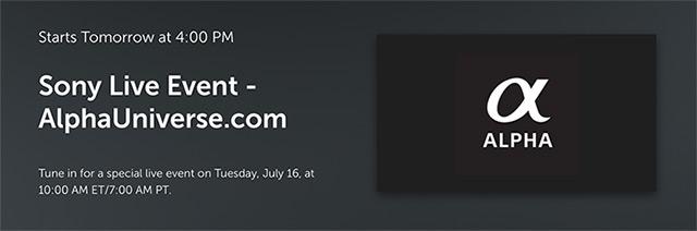 ソニーの7月16日の新製品発表が確定した模様。