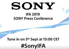 ソニーが9月5日にIFA2019で新製品発表を行う模様。