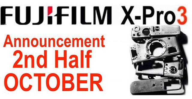 富士フイルムX-Pro3は10月下旬に発表!?