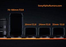 タムロン「SP 20mm F/2.8 VC」「SP 24mm F/2.8 VC」「SP 35mm F/2.8 VC」「70-180mm F/2.8 Di III VC RXD」