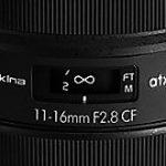 トキナーが発表するレンズは一眼レフAPS-C用「atx-i 11-16mm F2.8 CF」の模様。