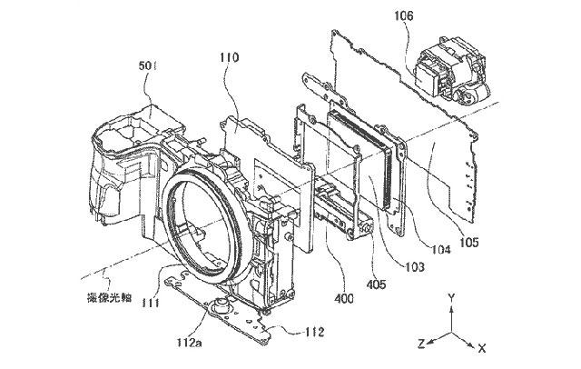 キヤノンのフルサイズミラーレスの小型化に関する特許