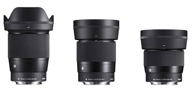 シグマがキヤノンEF-M用レンズ「SIGMA 16mm F1.4 DC DN | Contemporary」「SIGMA 30mm F1.4 DC DN | Contemporary」「SIGMA 56mm F1.4 DC DN | Contemporary」