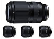 タムロンの三本のFE単焦点レンズ「20mm F/2.8 Di III OSD M1:2 (Model F050)」「24mm F/2.8 Di III OSD M1:2 (Model F051)」「35mm F/2.8 Di III OSD M1:2 (Model F053)」を正式発表。また大三元望遠ズーム「70-180mm F/2.8 Di III VXD (Model A056)」を開発発表。