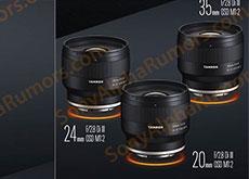 タムロン「20mm F/2.8 Di III OSD M1:2」「24mm F/2.8 Di III OSD M1:2」「35mm F/2.8 Di III OSD M1:2」「70-180mm F/2.8 Di III VC VXD」